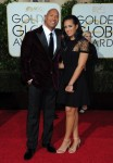 Dwayne Johnson attends The 73rd Golden Globe Awards in Los Angeles