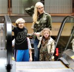 Gwen Stefani arrives at the movies with sons Apollo, and Zuma Rossdale