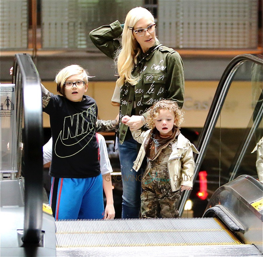 Gwen Stefani Arrives At The Movies With Sons Apollo And