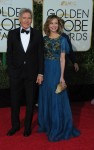 Harrison Ford, Calista Flockhart at the 73rd Annual Golden Globes Awards