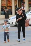Hilary Duff and son Luca stop by Starbucks