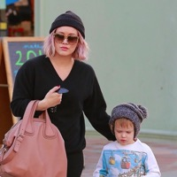 Hilary Duff Grabs A Snack With Her Son