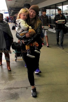 Jason Sudeikis and Olivia Wilde Arrive At LAX With Their Son Otis