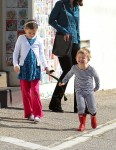 Jennifer Garner takes her kids Sam & Seraphina Affleck to church in Pacific Palisades on January 24, 2016