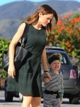 Jennifer Garner takes her kids Sam & Seraphina to church in Pacific Palisades on January 24, 2016