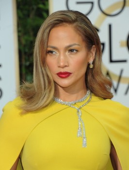Jennifer Lopez at the 73rd Annual Golden Globes Awards