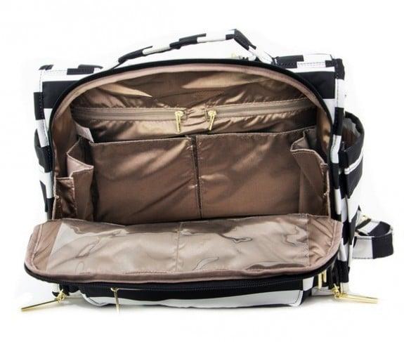 JuJuBe BFF Diaper Bag - interior