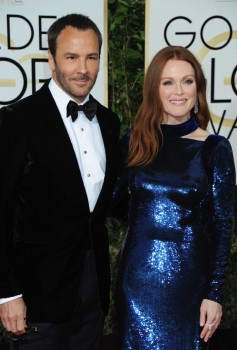 Julianne Moore with Tom Ford at the 73rd Annual Golden Globes Awards