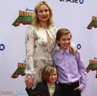 Kate Hudson Walks The Red Carpet With Her Boys For Kung Fu Panda 3 Premiere!
