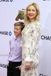 Kate Hudson and her son Ryder Robinson at Dream Works and Twentieth Century Fox present the World Premiere for Kung Fu Panda 3