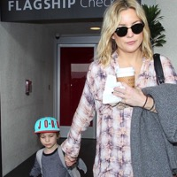 Kate Hudson Arrives At LAX With Son Bingham
