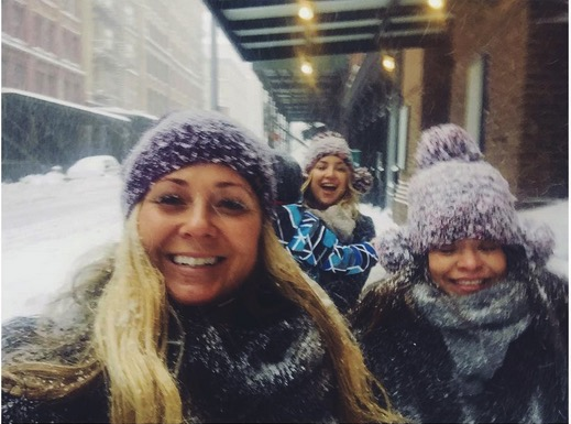 Kate Hudson braves the snow in NYC with son Bing