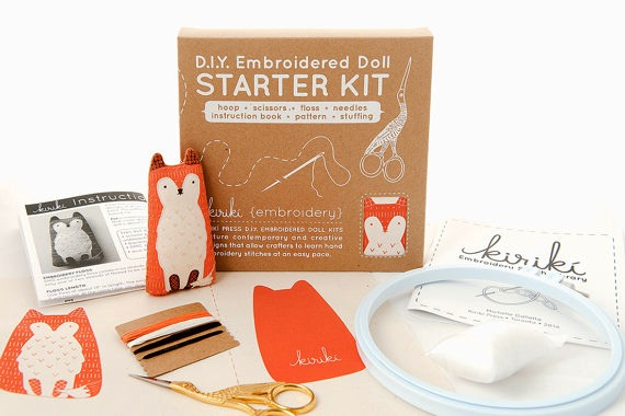 Kiriki Press D.I.Y. Embroidered Doll Starter Kit