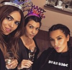 Kourtney Kardashian rings in the new year with sister Kim