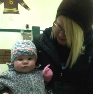 Kristin Hiebert with daughter Avery