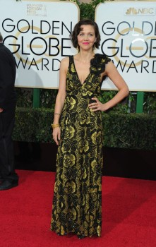 Maggie Gyllenhaal at the 73rd Annual Golden Globes Awards