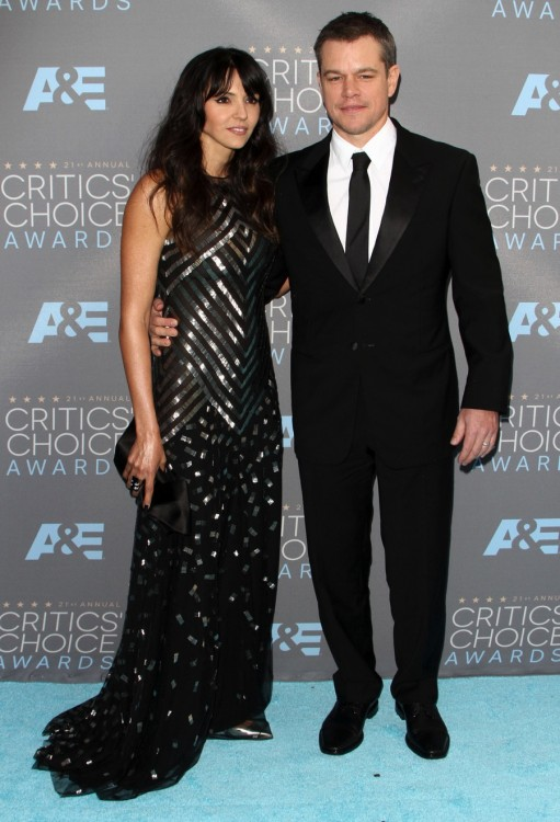 Matt Damon and wife Isabella attend The 21st Annual Critics' Choice Awards in Los Angeles
