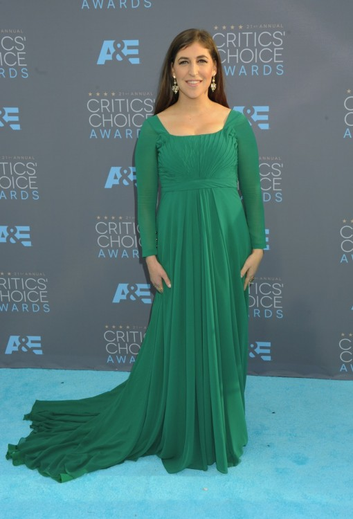 Mayim Bialik at The 21st Annual Critics' Choice Awards in Los Angeles