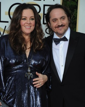 Melissa McCarthy Ben Falcone at the 73rd Annual Golden Globes Awards