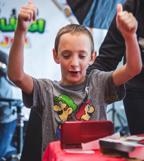 Nintendo Mario and Luigi- Paper Jam Launch - one excited fan