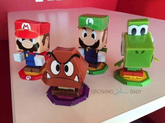 Nintendo Mario and Luigi- Paper Jam Launch paper characters
