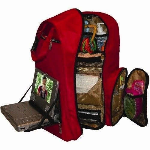 Okkatots Baby Travel Depot Diaper Bag Backpack interior