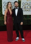 Olivia Wilde and Jason Sudekeis at the 73rd Annual Golden Globes Awards