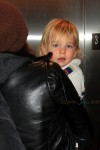 Olivia Wilde arrives at LAX with son Otis