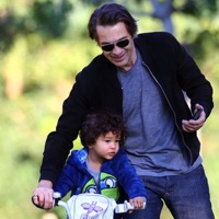 Olivier Martinez Hits The Park With His Son