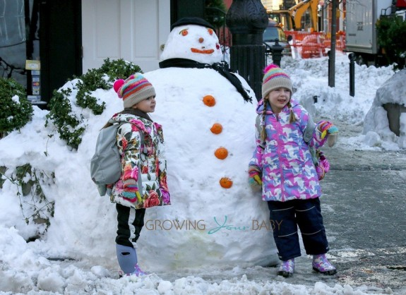 Sarah Jessica Parker's twins Tabitha and Marion Broderick enjoy a snowday