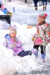 Sarah Jessica Parker's twins Tabitha and Marion enjoy a snowday
