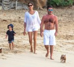 Simon Cowell and Lauren Silverman stroll with son Eric in Barbados