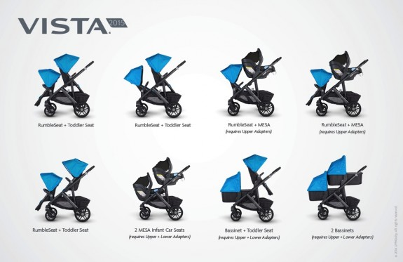 UppaBaby Vista configurations