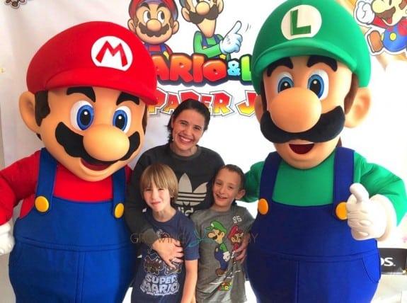 Us at the Nintendo Mario and Luigi- Paper Jam Launch