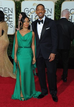 Will Smith with wife  Jada Pinkett Smith at the 73rd Annual Golden Globes Awards