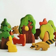 Wooden Caterpillar wooden stacking toy t
