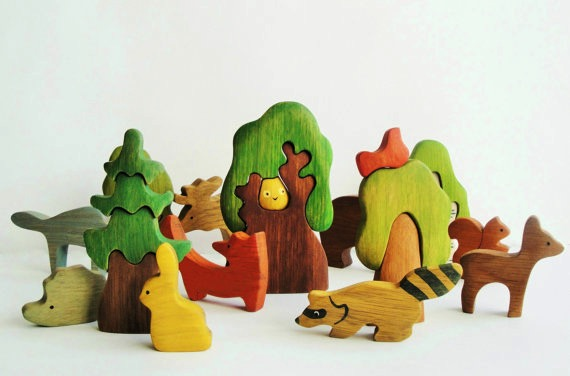 Wooden Caterpillar wooden stacking toy