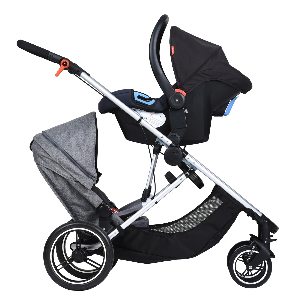 phil and teds voyager stroller car seat and stroller seat growing your baby. Black Bedroom Furniture Sets. Home Design Ideas