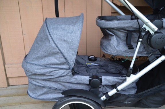 phil&teds Voyager - second seat as a bassinet