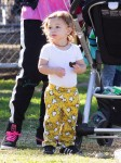 Apollo Rossdale at his Brother's soccer game