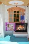 Barbie Hello Dreamhouse - fireplace