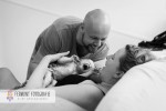 Child birth seconds after baby's birth 13