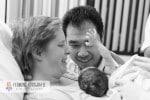 Child birth seconds after baby's birth 4