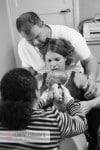 Child birth seconds after baby's birth 8