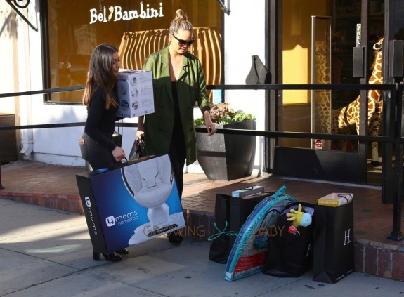 Chrissy Teigen shops for baby in Beverly Hills
