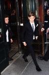 Cruz and Romeo Beckham Victoria Beckham leaving Balthazar after lunch in New York City, New York