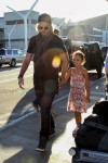 Gabriel Aubry takes a flight out of Los Angeles with adorable Nahla