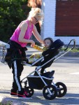 Gwen Stefani and son Apollo at Zuma's Soccer Practice