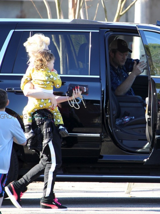 Gwen Stefani and son Apollo at Zuma's Soccer Practice with Blake Shelton