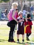 Gwen Stefani at Zuma's Soccer Practice